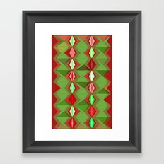 Waterbomb Holiday Colors Framed Art Print