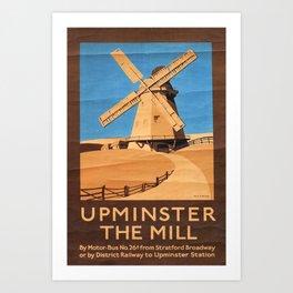 Upminster the Mill Vintage Travel Poster Art Print