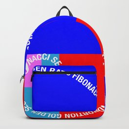 Golden Ratio, Fibonacci Spiral, Typographic Backpack
