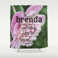 scripture Shower Curtains featuring Brenda scripture by KimberosePhotography