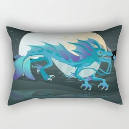 sea water chinese dragon Rectangular Pillow