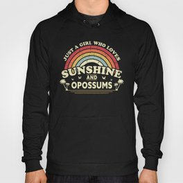 Opossum design. A Girl Who Loves Sunshine And Opossums product Hoody