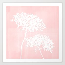 Queen Anne's Lace Pink Art Print