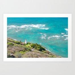 Diamond Head, Hawaii Art Print