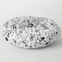 SATANIC PANIC! Vintage Clip Art Zine Style Collage Floor Pillow