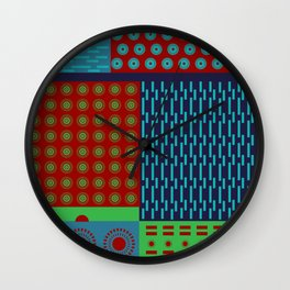 Japanese Style Colorful Patchwork Wall Clock