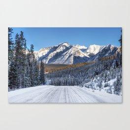 Winter Wonderland - Road in the Canadian Rockies Canvas Print