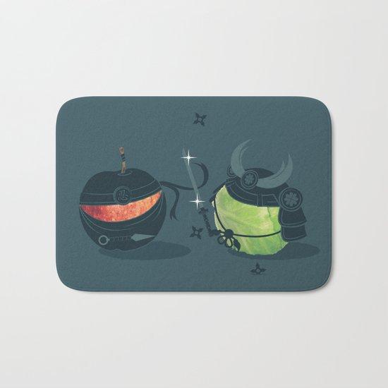 ninja vs samurai Bath Mat