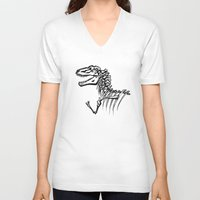 t rex V-neck T-shirts featuring T-Rex by ALT Illustration