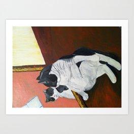 Vanity Kitty  Art Print