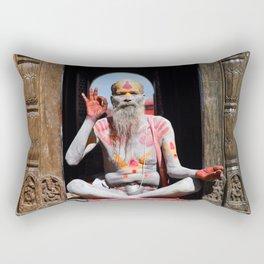 Old Hindu Rectangular Pillow