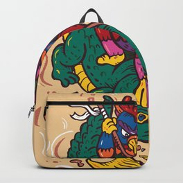 Crocodile with chicken Backpack