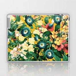 Tangerine Floral Pattern Vintage Laptop & iPad Skin