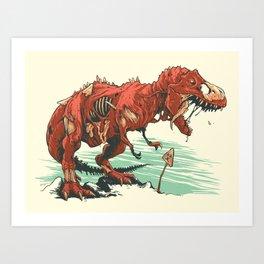 Nuclear t-Rex Art Print