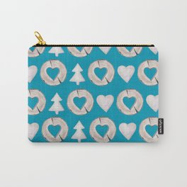 Xmas Classics Teal Carry-All Pouch