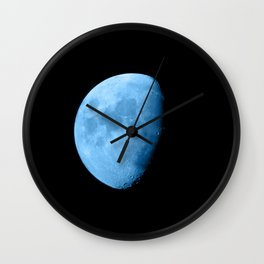 4K Dark Side of the Moon Ice Blue Wall Clock