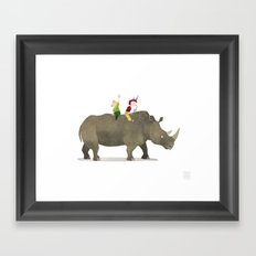Wild Adventure - Rhino Framed Art Print