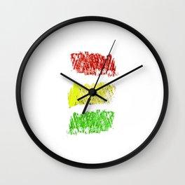 flag of bolivia 4 - Chalk version Wall Clock