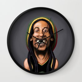 Celebrity Sunday - Robert Nesta Marley Wall Clock