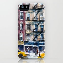 New York, wtercolor sketch iPhone Case