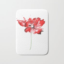 Poppy blooming 1 Bath Mat