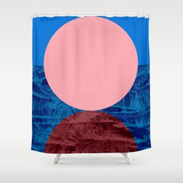 Pink Sun Shower Curtain