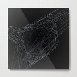 Abstract geometric 3D low poly lattice Metal Print