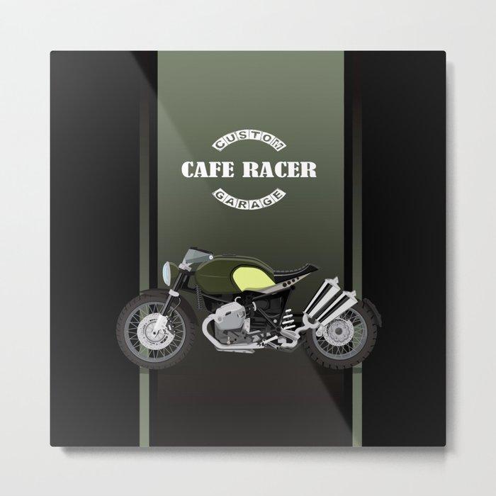 vintage motorcycle poster vector illustration Metal Print