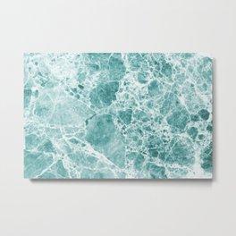 Tropical Sea Green Marble Metal Print
