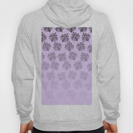 Abstract hand painted black lavender ombre floral Hoody