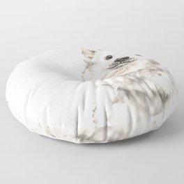 Baby Polar Bear Floor Pillow