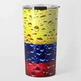 Flag of Columbia - Raindrops Travel Mug