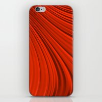 renaissance iPhone & iPod Skins featuring Renaissance Red by Charma Rose