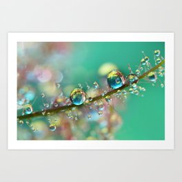 Smokey Rainbow Drops Art Print