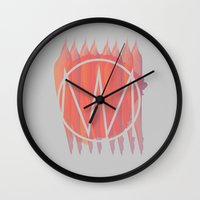 chile Wall Clocks featuring Mole con chile by poochinix