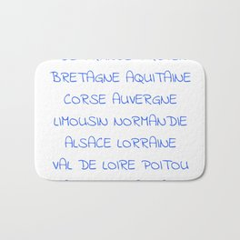 france's region - France, Français,française, French,romantic,love,gastronomy Bath Mat