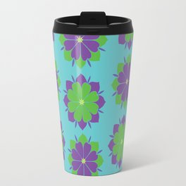 Purple + Green Power Flower Travel Mug