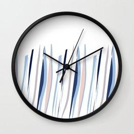 Indigo brush strokes Wall Clock