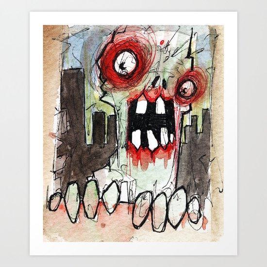 zombie surprise Art Print