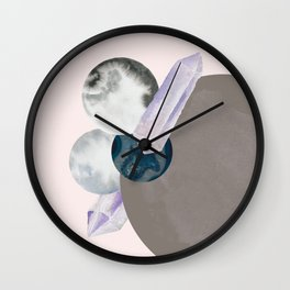Crystal Orbits Wall Clock