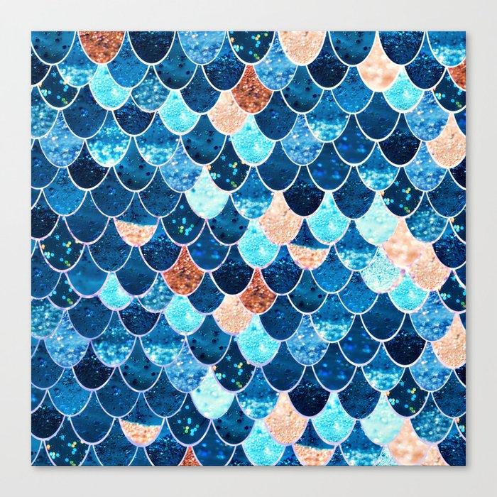 REALLY MERMAID BLUE & GOLD Canvas Print
