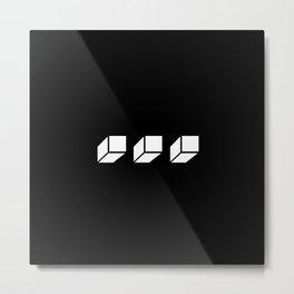 White FLO Logo Metal Print