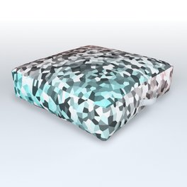 Seamless Flow of Shapes Outdoor Floor Cushion