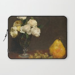 Henri Fantin-Latour - Still Life With Roses And Fruit Laptop Sleeve
