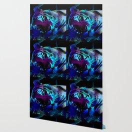 Blacklight Tiger Dreams Wallpaper