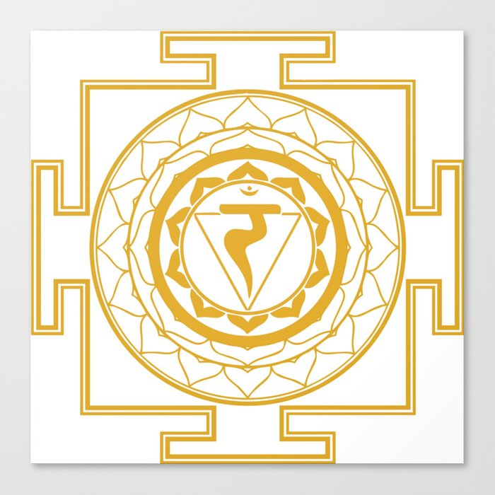Sri Yantra Solar Chakra Canvas Print