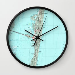 Seaside Park & NJ Shore Map (1989) Wall Clock