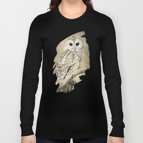 Sepia Owl Long Sleeve T-shirt