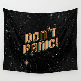 Don't Panic! Pixel Art Wall Tapestry