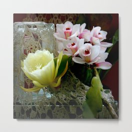 Heavenly May Flowers, Looking Up Metal Print